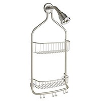mDesign Bathroom Shower Caddy for Shampoo, Conditioner, Soap - Large, Satin