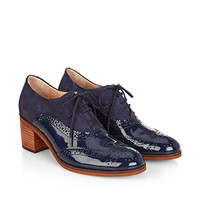 McGurk Block Heel Brogue | Navy | Monsoon