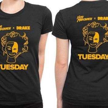 ESBH9S I Love Makonnen X Drake Tuesday Cover 2 Sided Womens T Shirt
