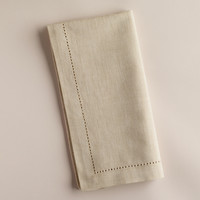 Parchment Hemstitch Napkins, Set of 4 - World Market