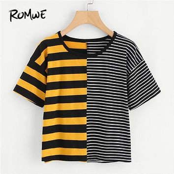 Contrasting Stripes T-Shirt