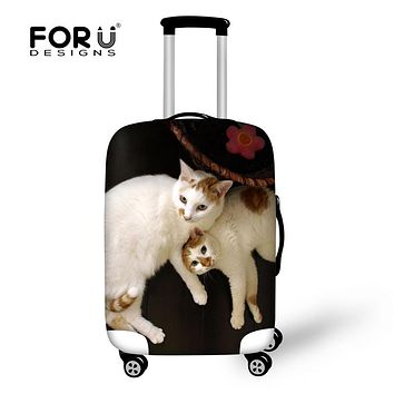 """FORUDESIGNS 3D Animal Cat Print Luggage Protective Covers Travel Accessories for 18-30"""" Suitcase Anti-dust Waterproof Trunk Case"""