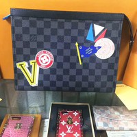LV Women Fashion Leather Tote Handbag Bag