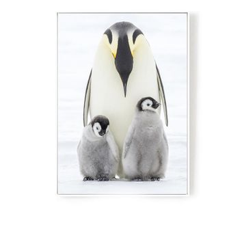Cosy Penguin 48.4'' Mural Painting