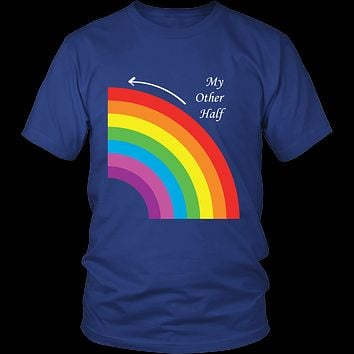 Matching Couples T-shirt , My Other Half Gay Lesbian LGBT Shirt - Men Short Sleeve T Shirt - TL01293SS