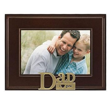 Malden Heart Brass Word Frame-Dad
