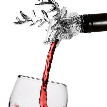 Stainless Steel Deer Stag Head Wine Pourer