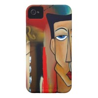 merger-abstract art Case-Mate iPhone 4 case