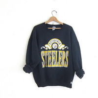 vintage Pittsburgh Steelers sweatshirt. cotton blend sweatshirt.