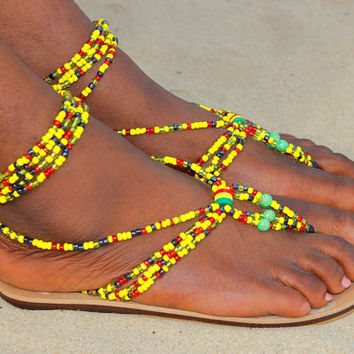 e8310b2ad Best African Beaded Sandals Products on Wanelo
