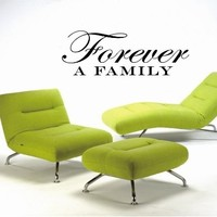 Forever a Family Quote Wall Mural Decal Vm027