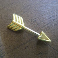 16 Gauge Gold Arrow Helix Piercing Earring Stud Post Arrowhead Head Industrial Cartilage Ear Jewelry