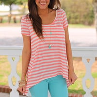 A Walk In The Park Top, Coral