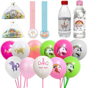 20pcs/lot Unicorn Balloons Party Supplies Latex Balloons Kids Cartoon Animal Horse Float Globe Birthday Party Decoration
