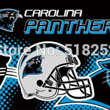 Carolina Panthers new helmet Flag 3x5 FT 150X90CM NFL Banner