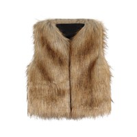 Kid Baby Girl Autumn Winter Faux Fur Waistcoat Thick Coat Warm Outwear Girls Clothes Winter coat