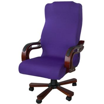 3size Elastic Computer Chair Cover Spandex Office Chair Cover Dining Chair Washable Removable Rotating Chair Cover