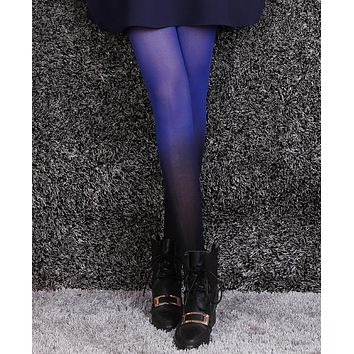 GRADIENT OPAQUE TIGHTS - 120D Women's Girls' New Fashion Candy Color Colorful Ombre Hand Dye Thick Stockings Pantyhose