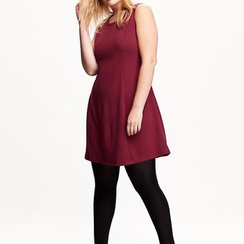 Old Navy Ponte Fit & Flare Plus Size Dress