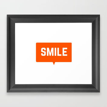 SMILE Framed Art Print by Love from Sophie
