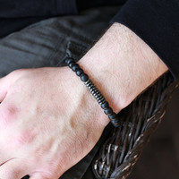 Mens Beaded Bracelet - With Hematite