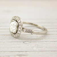 .82 Carat Old Cushion Cut Engagement Ring | Shop | Erstwhile Jewelry Co.