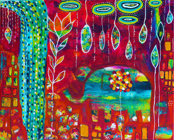 Colorful Elephant Abstract Painting Elephants Eden