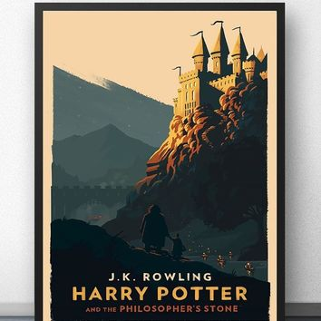 Harry Potter Poster Hogwarts Castle Movie Wall Art Paint Wall Decor Canvas Prints Canvas Art Poster Oil Paintings No Frame