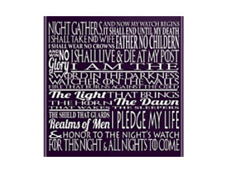 Game of Thrones The Night's Watch Oath
