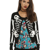 Too Fast Heart Bones Girls Cardigan