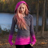 Ombre Dye Tie Hooded Pullover