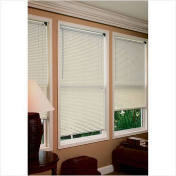 Achim Home Furnishings 1-Inch Wide Window Blinds, 32 by 64-Inch, Alabaster
