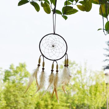 Handmade Dream Catcher Rasta Feathers Handmade Wall Car Hanging Ornament Decoration Room Decor adesivos para parede Dreamcatcher