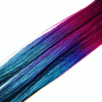 Dark Princess Extensions 24 Inch Magenta Teal by CandyAppleLocks