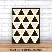 Geometric Print, Printable Wall Art, Printable Nordic Decor, Abstract, Modern Mid Century, Scandinavian Printable Download