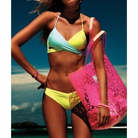 CREY7ON FASHION PURE COLOR BIKINI