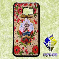 Anchor floral case For Samsung Galaxy S3/S4/S5/S6 Regular/S6 Edge and Samsung Note 3/Note 4 case