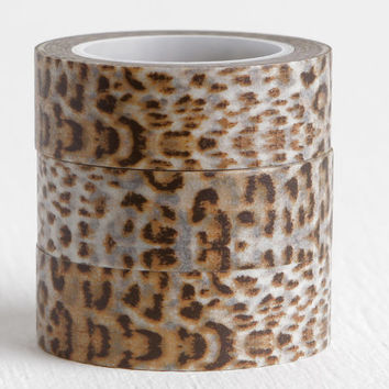 Leopard or Cheetah Print Washi Tape, Animal Print Washi, Safari 15mm