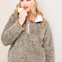 Boulder Wool Fleece Pullover | Plus