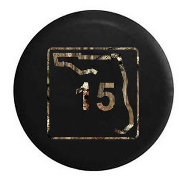 Florida State Highway Route 15 Scenic Sign RV Camper Jeep Spare Tire Cover