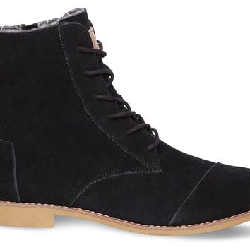 Black Suede Women's Alpa Boots US
