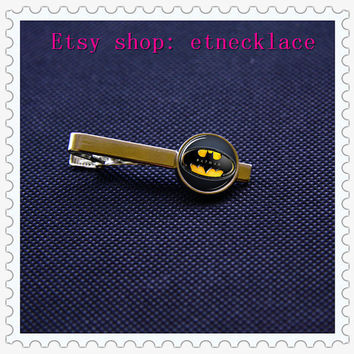 Tie Clips-Batman Superhero Clips,Mens Tie Clip,Fathers Day Tie Clip,Wedding Tie Clips,DIY Tie clip,BOY Friend gift