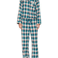 Blush Lingerie Women's Genna Printed Pajama Set - Green -
