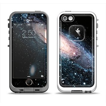The Swirling Glowing Starry Galaxy Apple iPhone 5-5s LifeProof Fre Case Skin Set