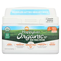 Happy Baby Organic Infant Milk Based Formula Powder - With Iron - Case Of 4 - 21 Oz