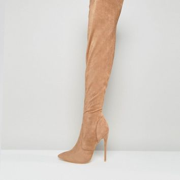 Public Desire Sonar Over The Knee Boots at asos.com