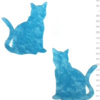 Kitty Pasties in Blue Fuzz