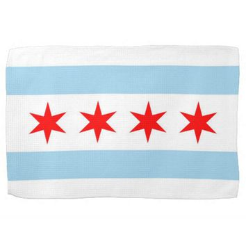 Kitchen towel with Flag of Chicago, Illinois
