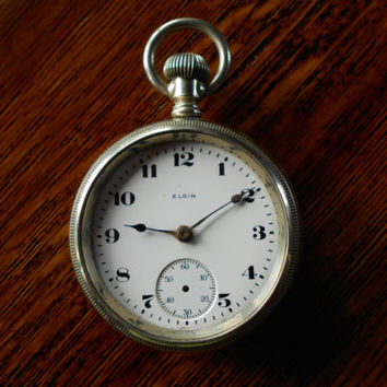 1921 Elgin open face pocket watch