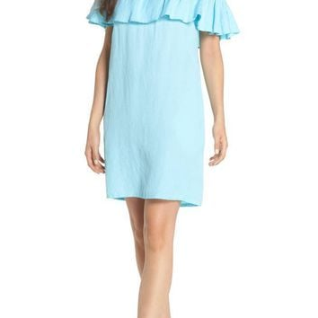 TOMMY BAHAMA Off the Shoulder Cover-Up Dress Swimming Pool $85